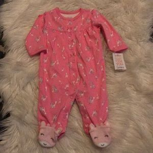 Carter's Giraffe Print Footed Pajamas